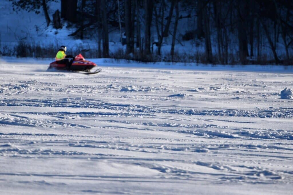 The best place for Snowmobiles in NY is the adirondacks